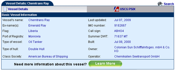 Basic Vessel Information